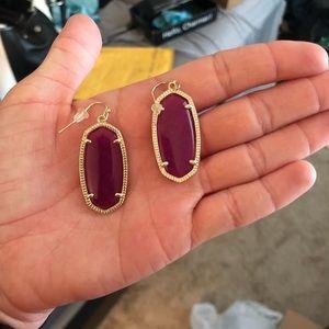 Kendra Scott Purple Jade Elles